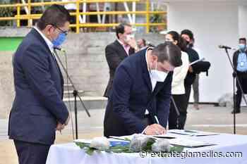 Alcalde de Tabio firmó con la Gobernación un convenio de reapertura económica - Extrategia Medios - Extrategia Medios
