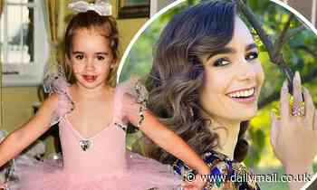 Lily Collins oozes star-power as she celebrates turning 32 with vintage snap of her in ballet attire - Daily Mail