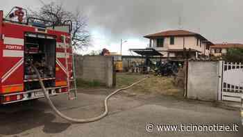 Baracca in fiamme a Inveruno, a Magenta incendio sterpaglie in strada Peralza - Ticino Notizie