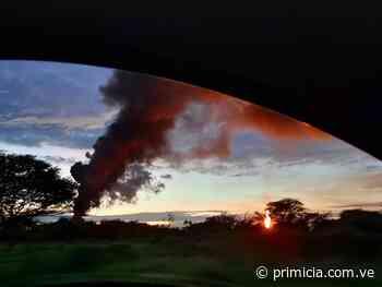 Incendio por derrame petrolero en Punta de Mata - Diario Primicia - primicia.com.ve