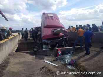 Cinco muertos por colisión de autobús en la Cantaura-El Tigre - Últimas Noticias