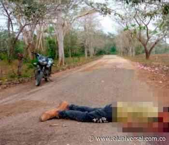 Encuentran asesinado a un hombre entre Palmito y Tolú - El Universal - Colombia