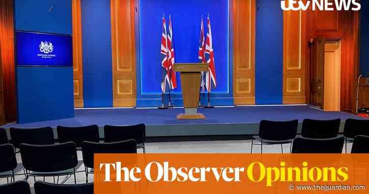 Downing Street's new press room is in an alarming shade of Nuremberg Radisson | Rowan Moore