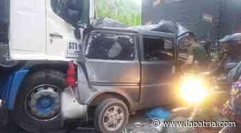 Un lesionado en aparatoso accidente en El Palo, vía Irra-Marmato - La Patria.com