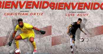 Guardameta Ortiz y volante Acuy ficharon por el Unión Huaral - ovacion.pe
