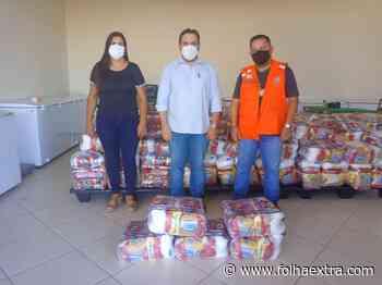 Defesa Civil e prefeitura de Ibaiti distribuem cestas básicas para 150 famílias carentes - Folha Extra