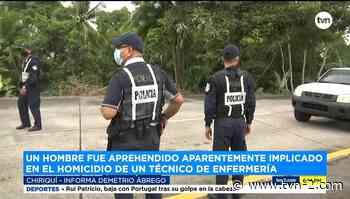 Aprehenden a sospechoso del homicidio de un técnico de enfermería en Bugaba - TVN Noticias
