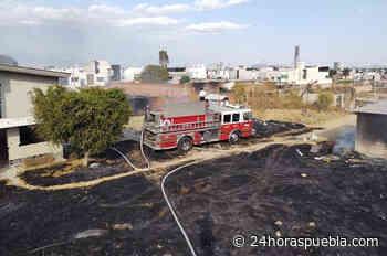 Se incendia bodega de madera y fibra de vidrio en Tlaxcalancingo - 24 Horas El Diario Sin Límites Puebla