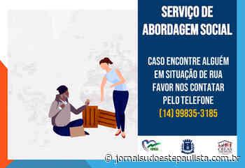 Coordenadoria de Ação Social relata Abordagem de Rua em Taquarituba - Jornal Sudoeste Paulista