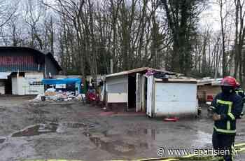 Après l'incendie sur un campement de Domont, des risques de pollution - Le Parisien