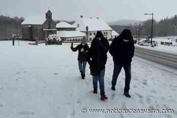 Jornada de nieve en Roncesvalles-Orreaga, pero sin visitantes - Noticias de Navarra