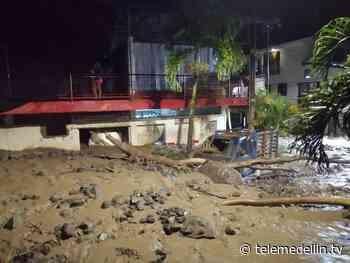 Desbordamiento de quebrada dejó 185 viviendas afectadas en Dabeiba - Telemedellín