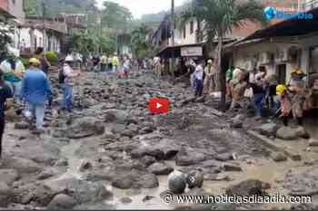 Dabeiba fuertemente golpeada por avenida torrencial en Antioquia - Noticias Día a Día