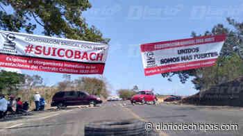 Continúa bloqueo en vía Pijijiapan-Tapachula Mañana se reunirán con autoridades de la Secretaría General de - Diario de Chiapas