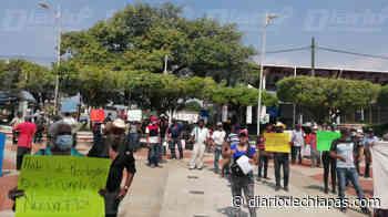 Protestan contra alcalde de Pijijiapan - Diario de Chiapas