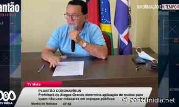 Prefeitura de Alagoa Grande determina aplicação de multas para quem não usar máscaras - PortalMidia
