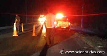 Un fallecido y otro lesionado tras accidente de tránsito en Jiquilisco, Usulután - Solo Noticias