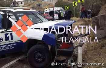 7 lesionados deja encontronazo en la carretera Tlaxco-Chignahuapan 18:53 21 Mar 2021 TLAXCALA, Tlax - Quadratín Tlaxcala