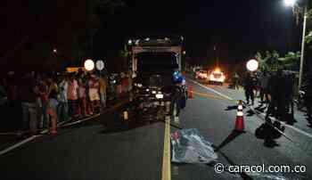 En María La Baja murió motociclista al chocar de frente contra un camión - Caracol Radio