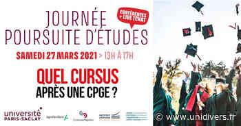 Vers un bac+5 et bac+8 à l'Université Paris-Saclay En ligne / online samedi 27 mars 2021 - Unidivers