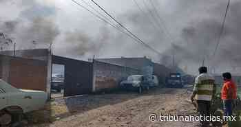 Incendio en fábrica de madera deja solo daños materiales en Tlaxcalancingo - Tribunanoticias