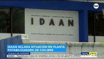 Idaan aclara situación en planta potabilizadora de Chilibre - TVN Panamá