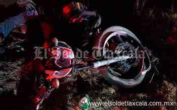 Fallece un motociclista en aparatoso accidente sobre la carretera Tlaxco-Apan - El Sol de Tlaxcala