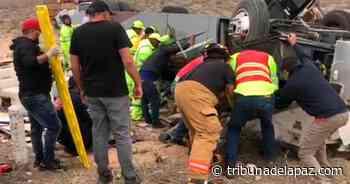 Accidente carretero al norte de Guerrero Negro, deja 4 lesionados - Tribuna de la Paz