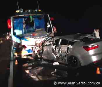 Cuatro personas murieron en un accidente entre Toluviejo y Tolú - El Universal - Colombia