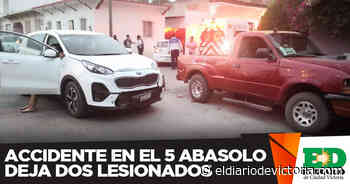 Accidente en el 5 Abasolo deja dos lesionados - El Diario de Ciudad Victoria