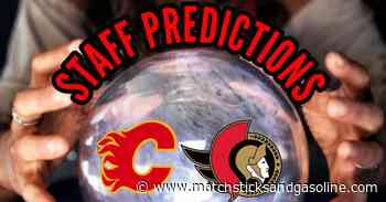 Staff Predictions & Projected Lines: Nesterov Back In Again Tonight - Matchsticks and Gasoline