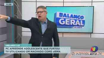 Abelardo Luz: Policia Civil apreende adolescente que furtou TV utilizando um machado como arma - ND