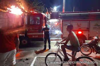Autoridades atendieron un voraz incendio estructural en Venadillo - Ecos del Combeima