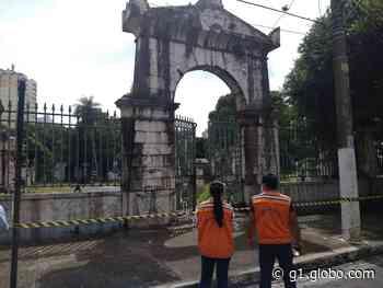 Defesa Civil interdita o cemitério da Soledade no bairro Batista Campos, em Belém - G1