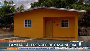 Entregan casa a familia Cáceres Hernández de Pesé - Telemetro