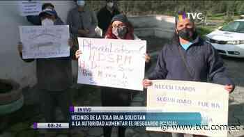 Solicitan resguardo policial en La Tola Baja - tvc.com.ec