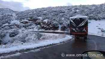 Cierran tramo carretero Janos-Agua Prieta por nevada - Omnia