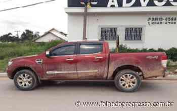 PM recupera em Novo Progresso caminhonete roubada em Brasilia com placa clonada - Jornal Folha do Progresso
