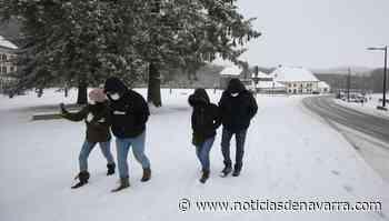 La nieve cubre Roncesvalles - Noticias de Navarra