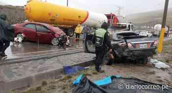 Reportan brutal choque entre dos vehículos que originó 5 muertes en la Carretera Central - Diario Correo