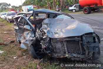 Aparatoso accidente de tránsito en Alanje - Día a día