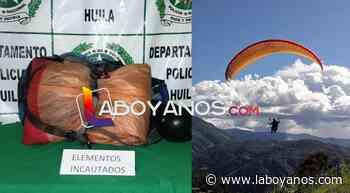 Policía incautó parapente en Isnos, Huila - Laboyanos.com