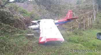 Avioneta se estrelló en zona rural de Amalfi - Telemedellín