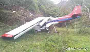 En Amalfi una avioneta se estrelló y el piloto quedó herido - Caracol Radio