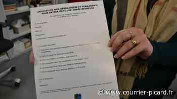 précédent Une carte de vœux sous forme d'attestation à Thourotte - Courrier Picard
