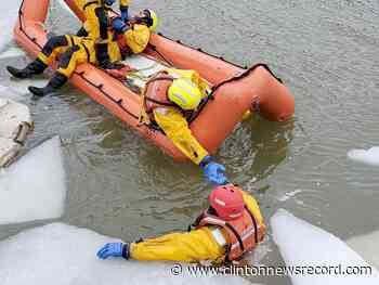Lambton Shores firefighters practice water and ice rescue - Clinton News Record