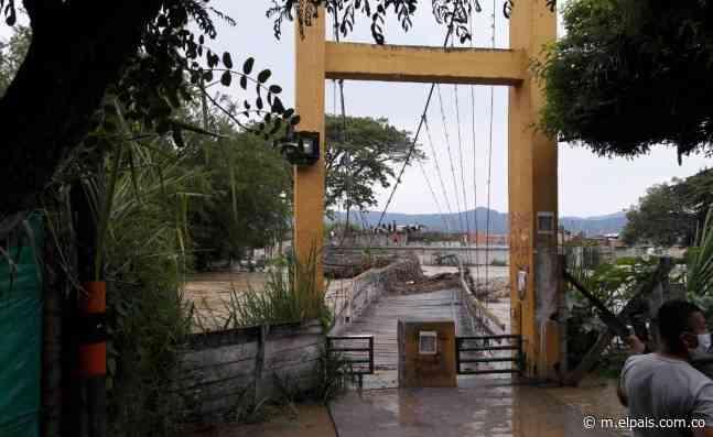Creciente de río dejó un puente dañado y barrios inundados en Bugalagrande - El País – Cali