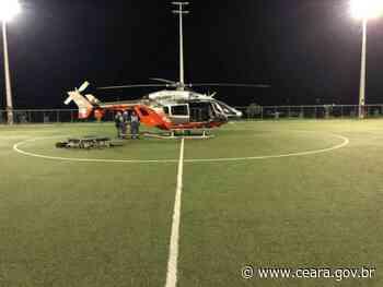Aeronave da Ciopaer realiza transporte aeromédico de vítima de capotamento em Mauriti - Ceará