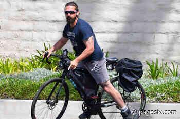 Shia LaBeouf spotted biking amid ongoing FKA Twigs lawsuit - Page Six