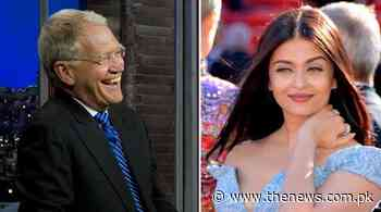 Aishwarya Rai fired back at David Letterman after his insulting question - The News International